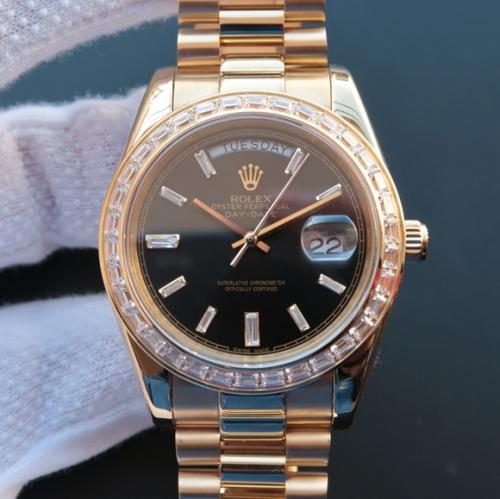 买精仿劳力士手表价格 N复刻劳力士日志星期日历型218399 机械男表