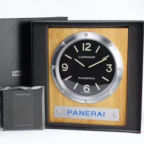 N沛纳海312专卖店定制版PAM00312墙面挂钟,酷炫黑面,顶级杉木材质,SuperLumed夜光材料,原装沛纳海一致的夜光材料,带包装的工厂原单。明星同款,尺寸315MM*248MM