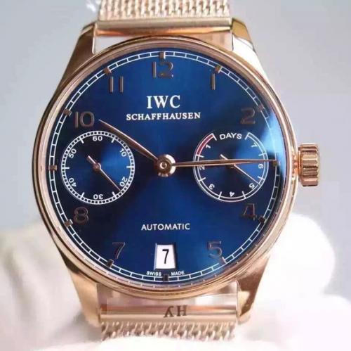 万国手表精仿一比一 YL万国葡七限量版葡萄牙7日链V5版钢带 男表
