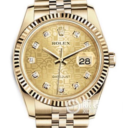 【爆款专供】劳力士ROLEX日志型系列116238香槟盘镶钻 18K金 全自动机械男表 单日历男士手表
