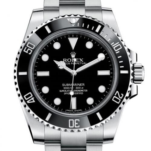 劳力士ROLEX潜行者系列14060-97200 黑盘男表 无日历黑水鬼 自动机械男士手表
