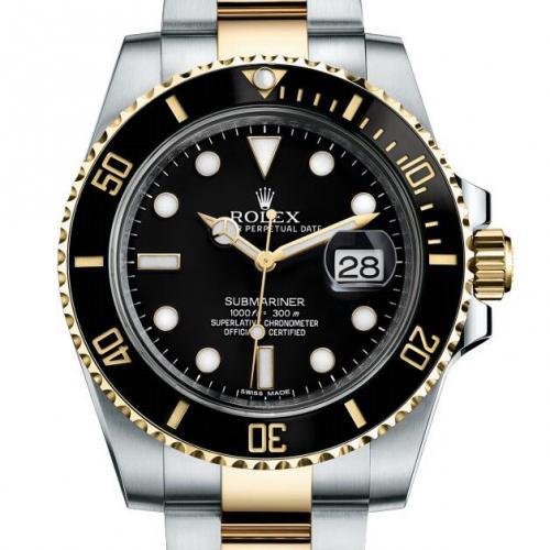 劳力士ROLEX潜行者系列116613-LN-97203黑盘男表 18K金  自动机械男士手表
