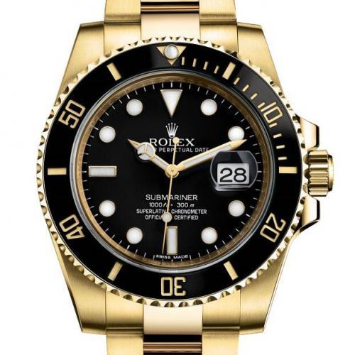 劳力士ROLEX潜行者系列116618LN-97208黑盘男表 18K金 自动机械男士手表