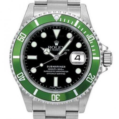 劳力士ROLEX潜行者系列16610LV-93250 青鬼 男表 18K金 自动机械男士手表