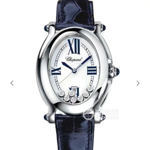 高仿萧邦手表价格 KG仿真萧邦钢带经典HAPPYDIAMONDS系列腕表,原装开模一比一 女表