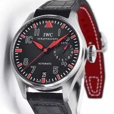 万国IW500435 ZF精仿复刻IWC万国大飞拳王阿里纪念版大型飞行员系列IW500435经典的红黑搭配只为拳王阿里设计 高仿万国IW500435 男表