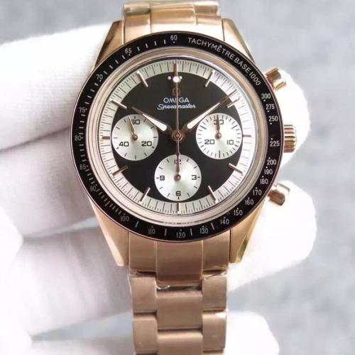 欧米茄仿真一比一手表 JH欧米茄超霸系列,黑面白眼/白面蓝眼/白面白眼 机械男士手表