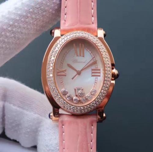 高仿萧邦手表 KG精仿萧邦钢带经典HAPPYDIAMONDS系列腕表,原装开模一比一 女表