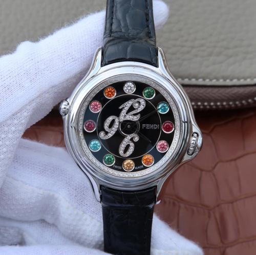 XF复刻芬迪变色珠宝女士手表(Fendi)CrazyCarats全新腕表系列全新腕表