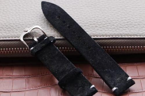 N劳力士阿联酋迪拜限量版Crown反牛皮表带,适用于潜航者(水鬼)/格林尼治/名仕游艇/迪通拿