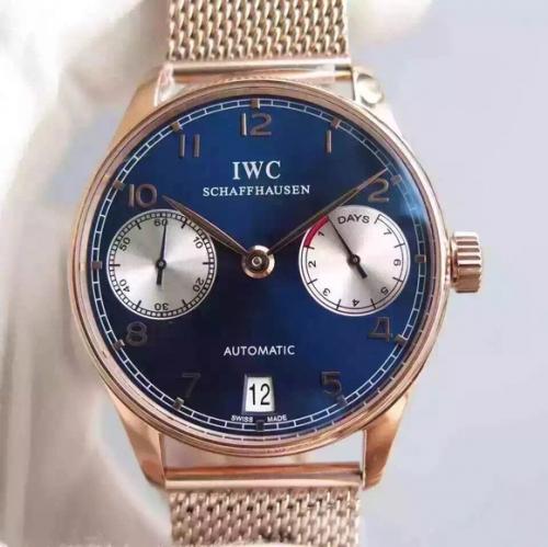 可以货到付款精仿万国手表 YL万国葡七限量版葡萄牙7日链V5版钢带 男表