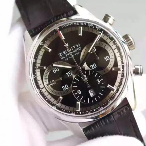 高仿真力时 H精仿真力时ELPRIMERO拱形蓝宝石玻璃双面 全功能跑秒复杂男士手表