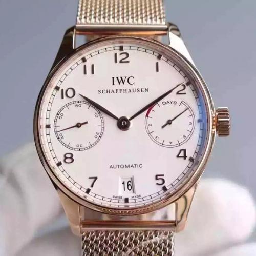 iwc手表精仿 YL万国葡七限量版葡萄牙7日链V5版钢带 男表