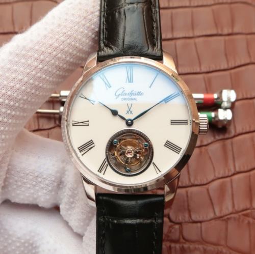 EF复刻格拉苏蒂原创参议员系列94-11-01-01-04真陀飞轮腕表 男表