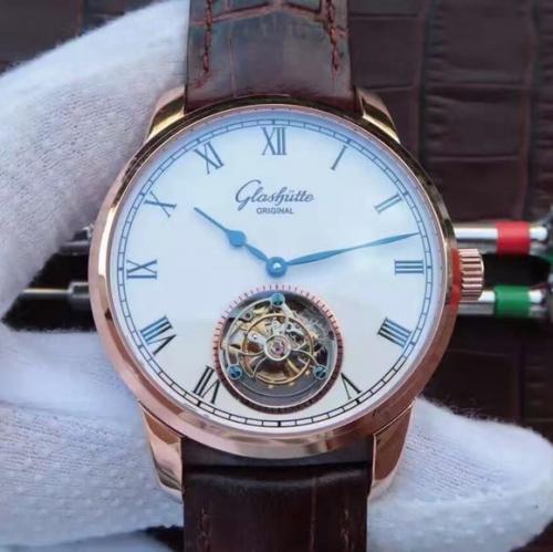 格拉苏蒂手表顶级精仿 EF格拉苏蒂原创精髓参议员系列真陀飞轮