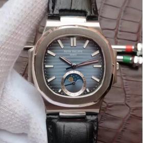 仿百达翡丽多少钱 N百达翡丽运动系列鹦鹉螺月相腕表 男表