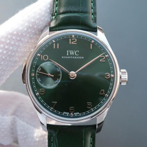 万国IW524204 YL精仿复刻万国葡萄牙IW524204翠绿限量版 高仿万国IW524204 男表