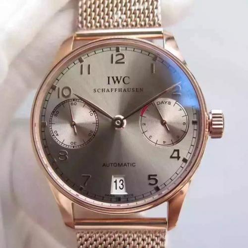 万国手表复刻表工厂 YL万国葡七限量版葡萄牙7日链V5版钢带 男表