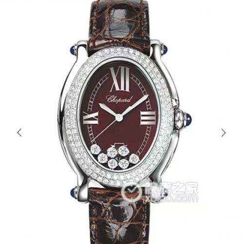 萧邦高仿手表价格 KG复刻萧邦钢带经典HAPPYDIAMONDS系列腕表,原装开模一比一 女表
