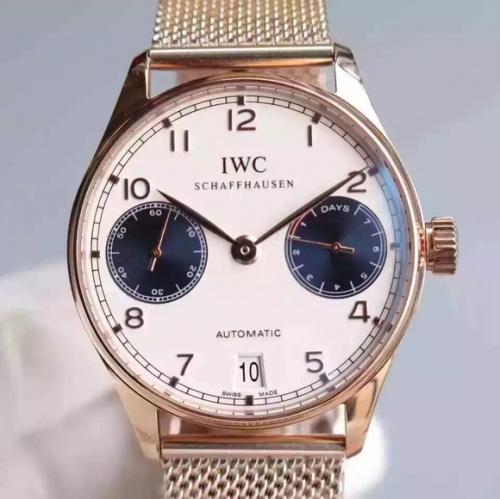 万国手表复刻表 YL万国葡七限量版葡萄牙7日链V5版钢带 男表