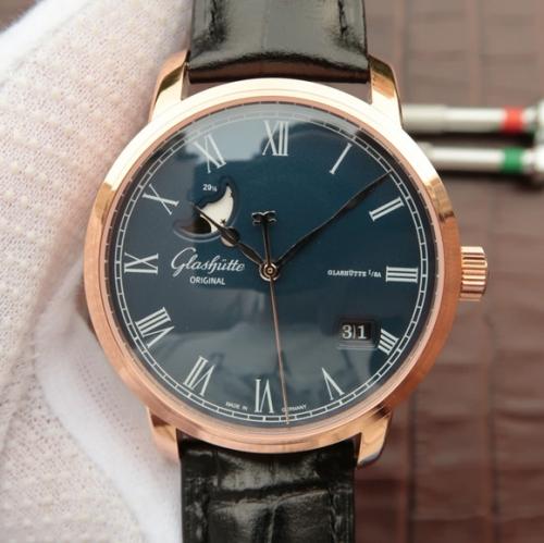 重庆格拉苏蒂 高仿手表那里有买 FK格拉苏蒂原创100-04-32-15-50精髓 男表