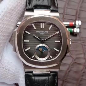 仿真百达翡丽腕表 N百达翡丽运动系列鹦鹉螺月相腕表 男表