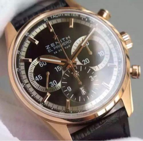 高仿真力时手表 H厂真力时ELPRIMERO 男士手表