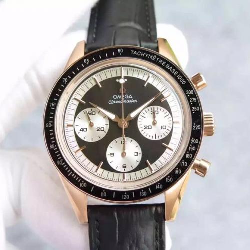 欧米茄复刻手表 JH欧米茄超霸系列 黑面白眼/白面蓝眼/白面白眼 机械男士手表
