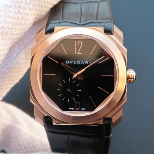 N宝格丽全新OCTO系列102028BGO40BPLXT超薄腕表 男士手表