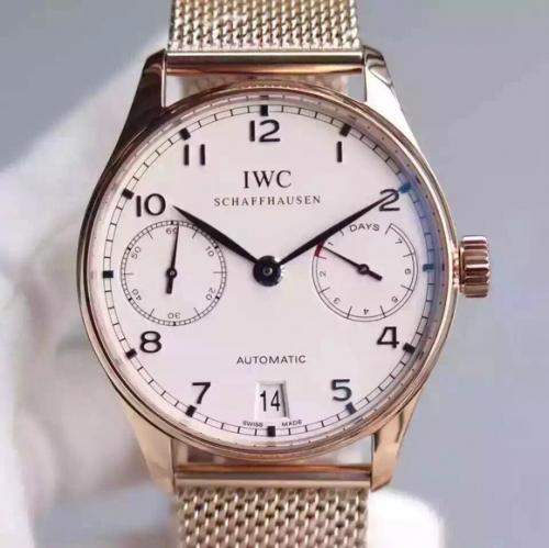 万国手表葡7 顶级复刻 YL万国葡七限量版葡萄牙7日链V5版钢带 男表