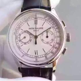精仿百达翡丽手表厂家货到付款 TF百达翡丽多功能计时腕表 男表
