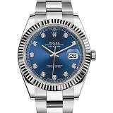 劳力士日志型复刻表 一比一规范劳力士日志型126334 蓝盘钻石刻度 男士自动机械表