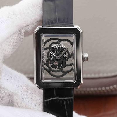 TW香奈儿PREMIERE系列山茶花镂空女士机械腕表