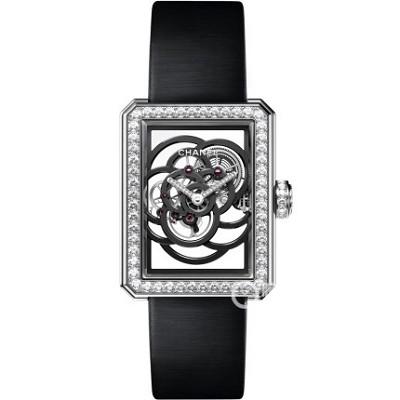 一比一精仿香奈儿PREMIERE系列山茶花镂空女士机械腕表
