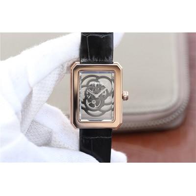 一比一高仿香奈儿PREMIERE系列山茶花镂空女士机械腕表
