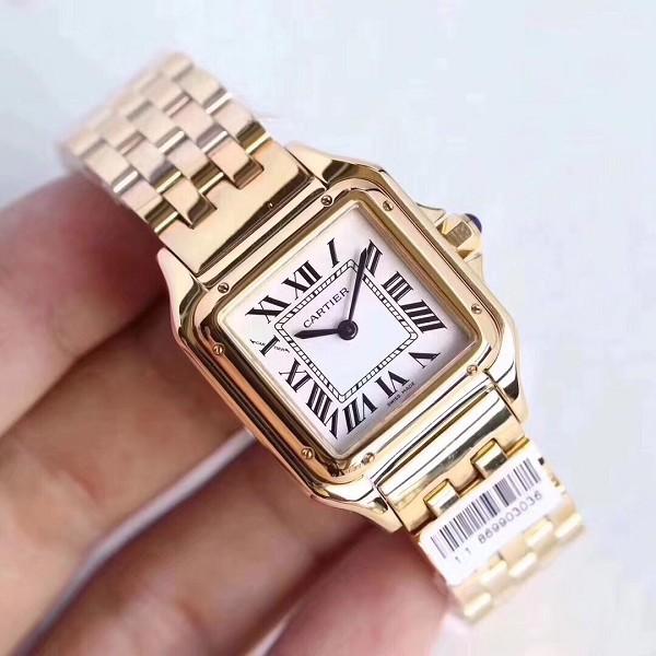 卡地亚手表仿 高仿卡地亚坦克系列 女士手表