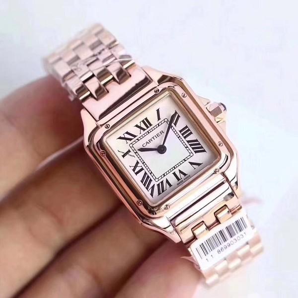 精仿手表卡地亚坦克系列 女士机械手表