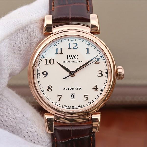 万国达文西 高仿复刻万国达文西系列356601玫瑰金版 男士手表