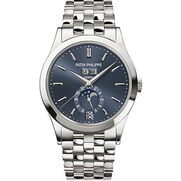高仿复刻百达翡丽复杂功能计时系列5396/1G-001 蓝盘 男士手表