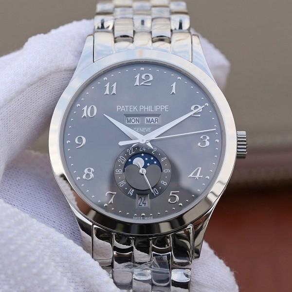 百达翡丽 高仿百达翡丽超级复刻复杂功能计时系列5396 灰盘男士手表
