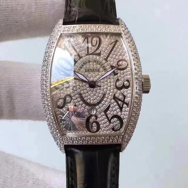 仿法兰克穆勒手表 精仿法穆兰满天星镶钻表 男士机械表