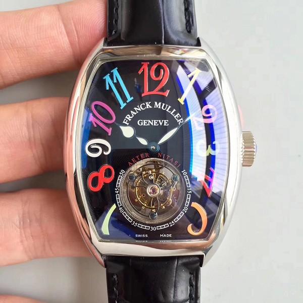 法兰克穆勒仿品价格 精仿法兰穆顶级俱乐部8880系列陀飞轮腕表 黑面男士机械表