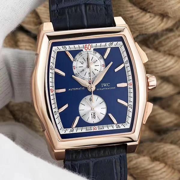 仿万国手表 高仿复刻万国达文西系列 蓝盘 机械男表