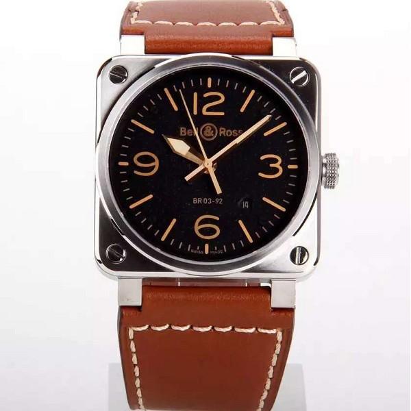 一比一高仿柏莱士AVIATION系列BR03-92新品四方型表 简约男士手表