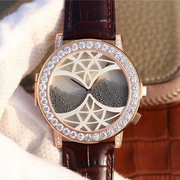 高仿伯爵ALTIPLANO系列 G0A34175腕表 玫瑰金镶钻男士手表