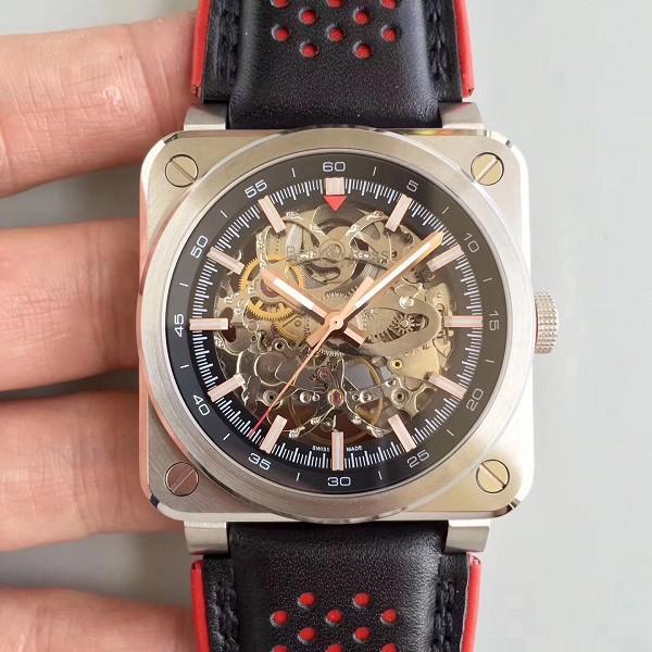 高仿复刻柏莱士BR 03-92 AÉRO GT 镂空方形机械手表
