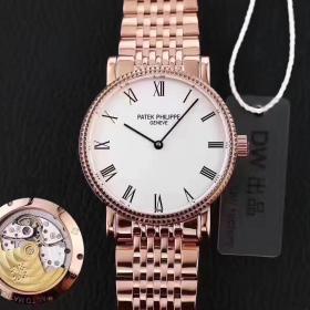 百达翡丽古典系列仿表 高仿百达翡丽古典表系列5120 玫瑰金腕表