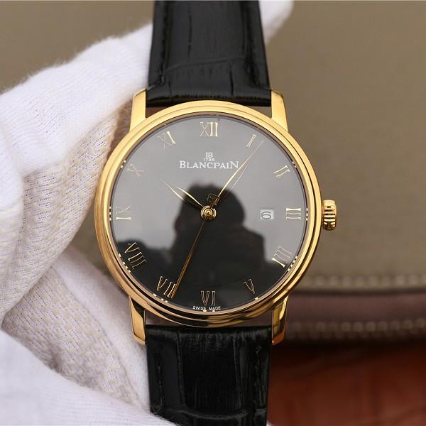 一比一高仿宝珀经典系列6651-1127-55B 黑盘男士计时机械腕表
