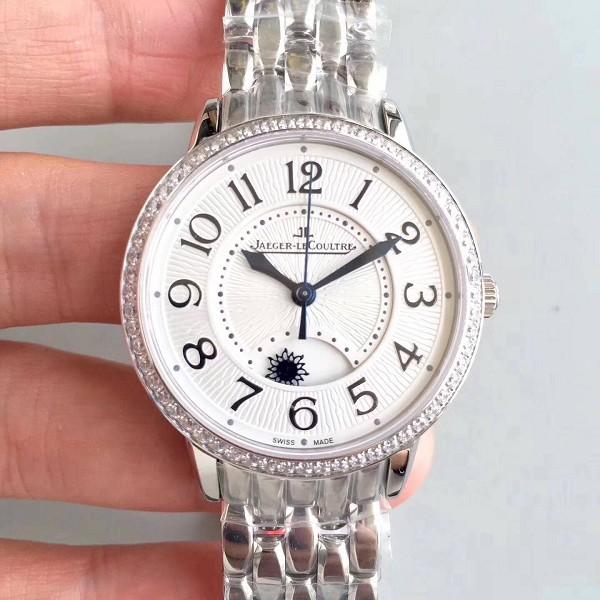 仿积家约会系列腕表 精仿复刻积家约会系列腕表 表圈镶钻机械手表男女款