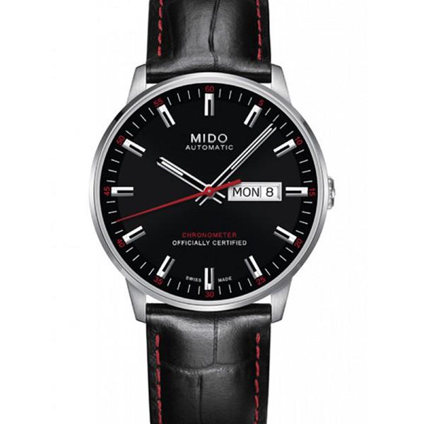 仿美度手表图片 精仿美度指挥官系列M021.431.16.051.00 黑盘男士机械表